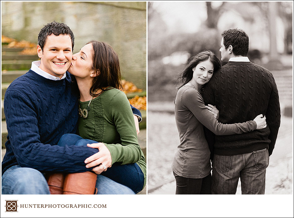 Stephanie and Ben - music lovers engagement session in Cleveland