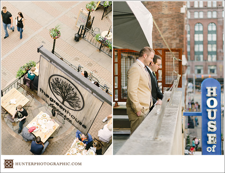 Stephanie and Ryan's downtown Cleveland wedding at Greenhouse Tavern