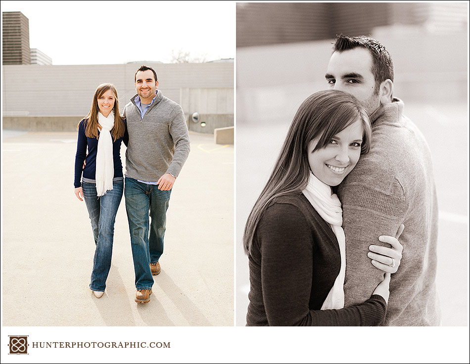 Tara and Brian University Circle Engagement Session