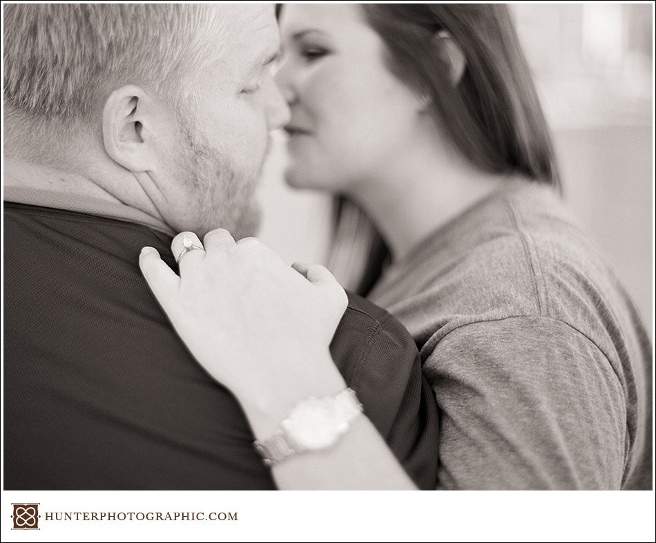 A sunkissed film engagement session in downtown Cleveland with Torri and Lucas
