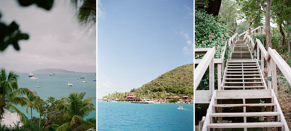 Travel photography in the British Virgin Islands while sailing