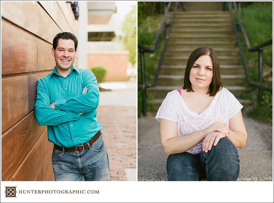 Victoria and Joshua - best friends engagement session along the shore